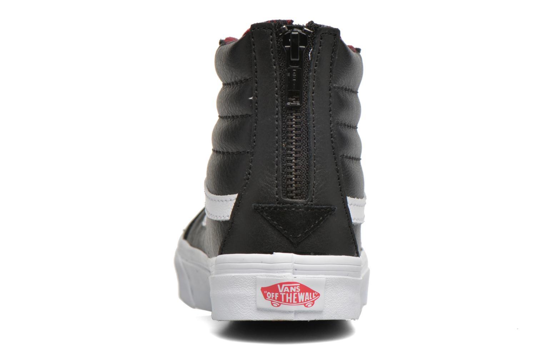 Sneaker Vans SK8-Hi Slim Zip schwarz ansicht von rechts