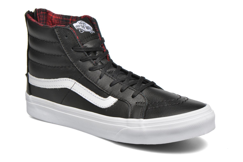 Sneaker Vans SK8-Hi Slim Zip schwarz detaillierte ansicht/modell
