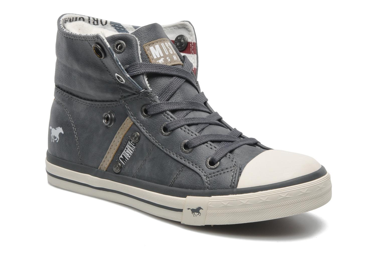 Baskets Mustang shoes Mathys Gris vue 3/4