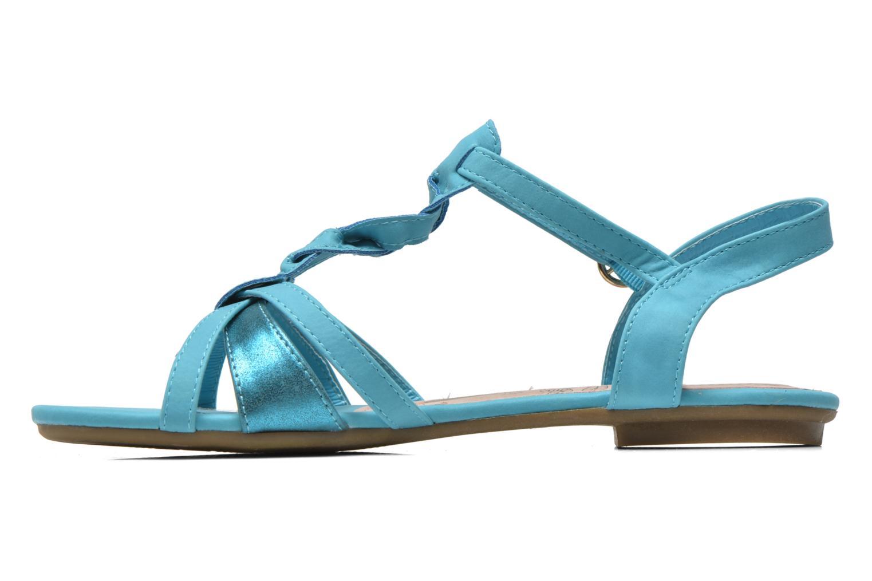 Sandalen Refresh Rafia blau ansicht von vorne