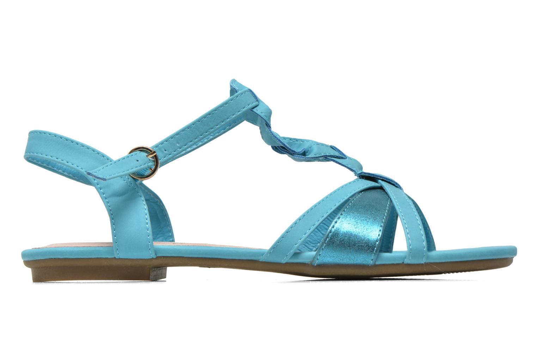Sandalen Refresh Rafia blau ansicht von hinten