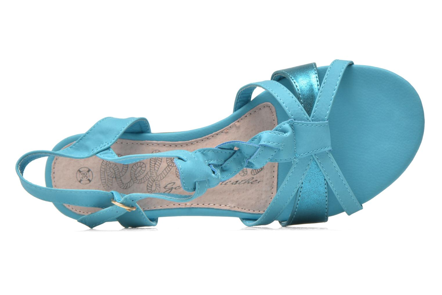 Sandals Refresh Rafia Blue view from the left
