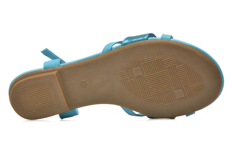 Sandales et nu-pieds Refresh Rafia Bleu vue haut