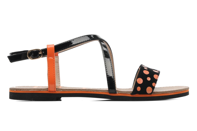 Sandales et nu-pieds Elle Varenne Orange vue derrière