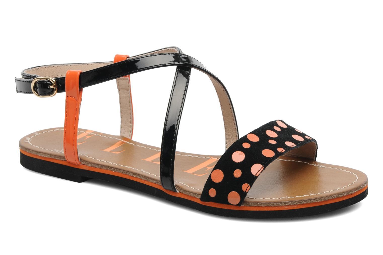 Sandales et nu-pieds Elle Varenne Orange vue détail/paire