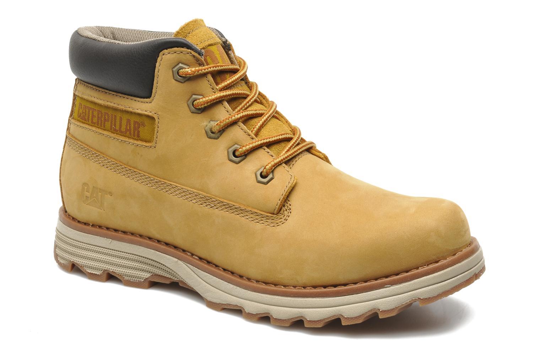 Bottines et boots Caterpillar Founder Jaune vue détail/paire