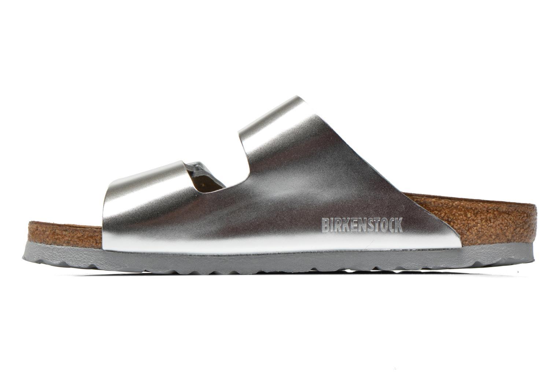 Wedges Birkenstock Arizona Cuir W Zilver voorkant