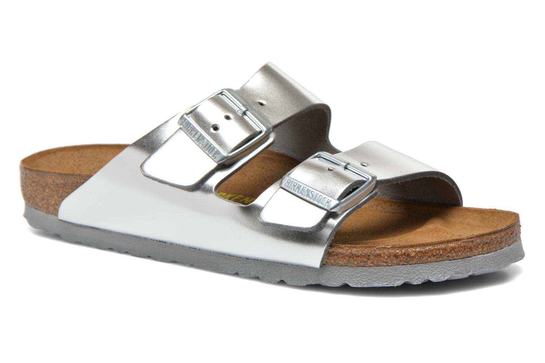 Birkenstock - Damen - Arizona W - Clogs & Pantoletten - silber Er9K4