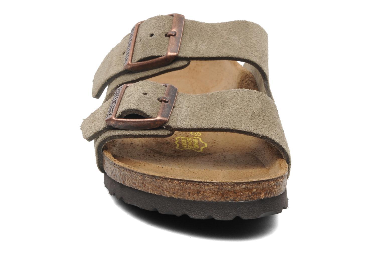 Clogs & Pantoletten Birkenstock Arizona Velours W braun schuhe getragen
