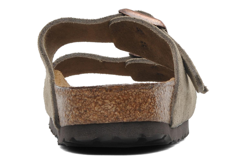 Clogs & Pantoletten Birkenstock Arizona Velours W braun ansicht von rechts