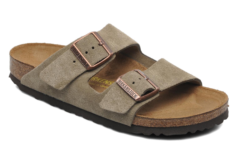 Clogs & Pantoletten Birkenstock Arizona Velours W braun detaillierte ansicht/modell