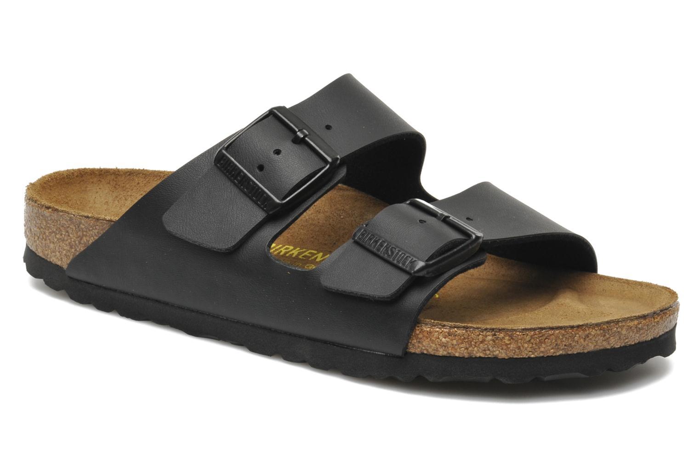 Clogs og træsko Birkenstock Arizona Flor W (Smal model) Sort detaljeret billede af skoene