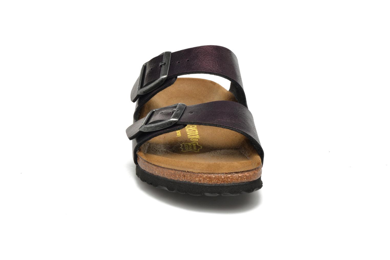 Mules et sabots Birkenstock Arizona Flor W Violet vue portées chaussures