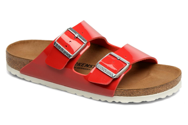 Clogs og træsko Birkenstock Arizona Flor W (Smal model) Rød detaljeret billede af skoene