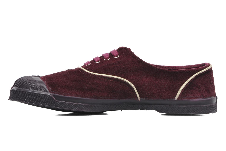 Sneakers Bensimon Tennis Lacets Suedpiping Bordeaux voorkant