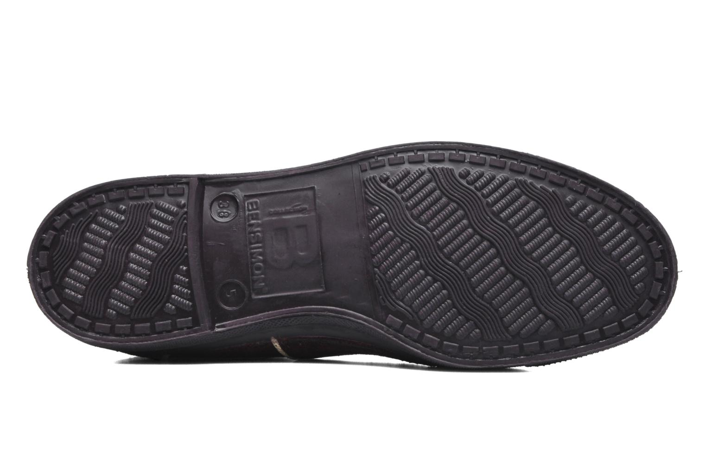 Sneakers Bensimon Tennis Lacets Suedpiping Bordeaux boven