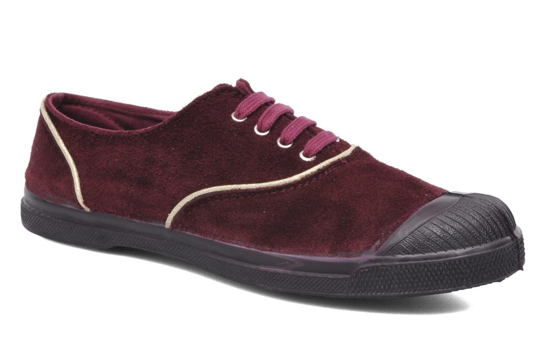 Sneakers Bensimon Tennis Lacets Suedpiping Bordeaux detail