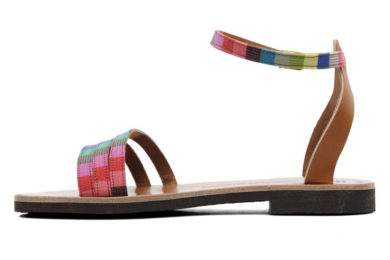 Sandalen Sandales de Thaddée Capri mehrfarbig ansicht von vorne