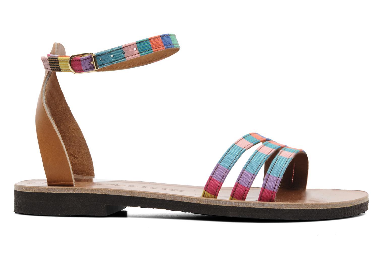 Sandalen Sandales de Thaddée Capri mehrfarbig ansicht von hinten