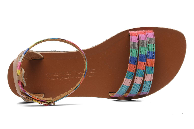 Sandalen Sandales de Thaddée Capri mehrfarbig ansicht von links