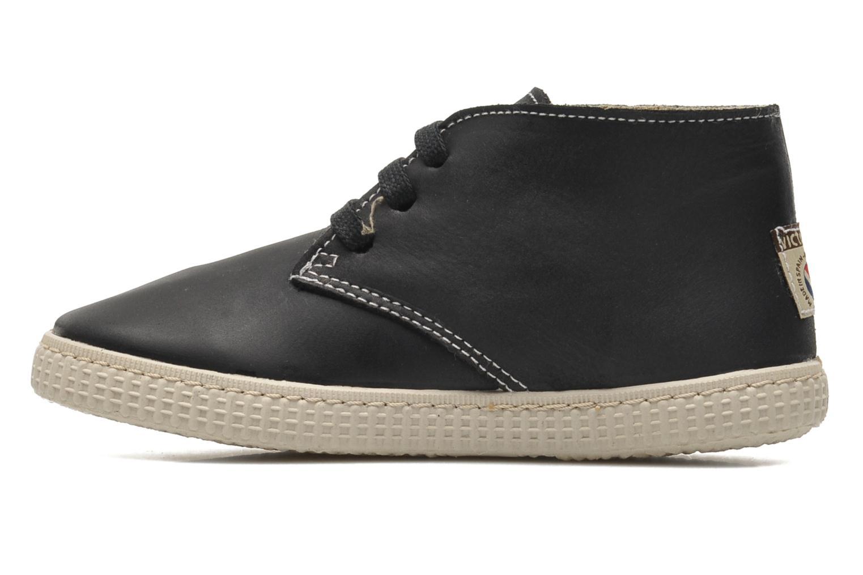 Chaussures à lacets Victoria Safari Piel Tintada Pelo Noir vue face