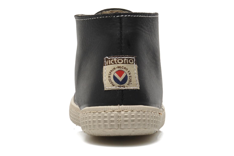 Chaussures à lacets Victoria Safari Piel Tintada Pelo Noir vue droite