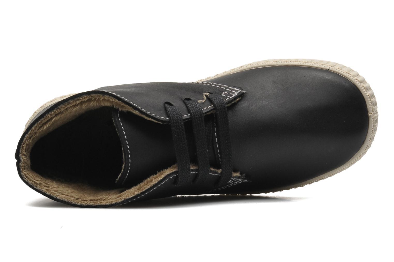 Chaussures à lacets Victoria Safari Piel Tintada Pelo Noir vue gauche