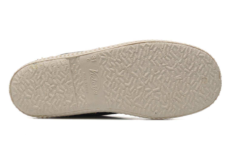 Chaussures à lacets Victoria Safari Piel Tintada Pelo Noir vue haut