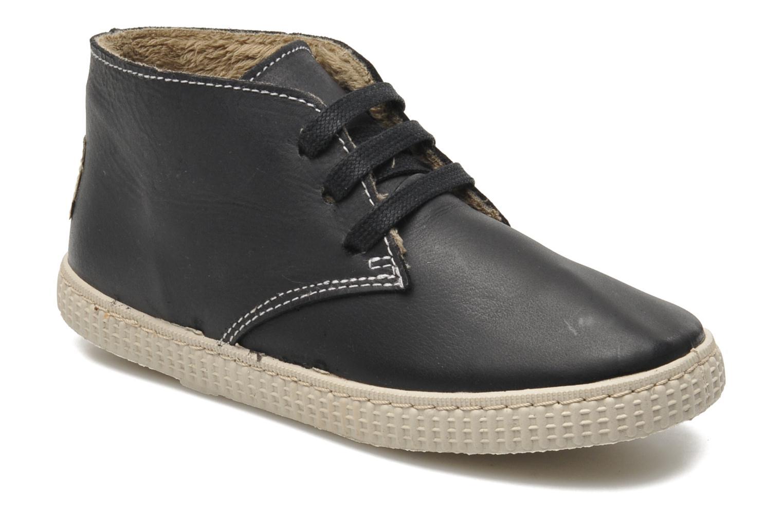 Chaussures à lacets Victoria Safari Piel Tintada Pelo Noir vue détail/paire