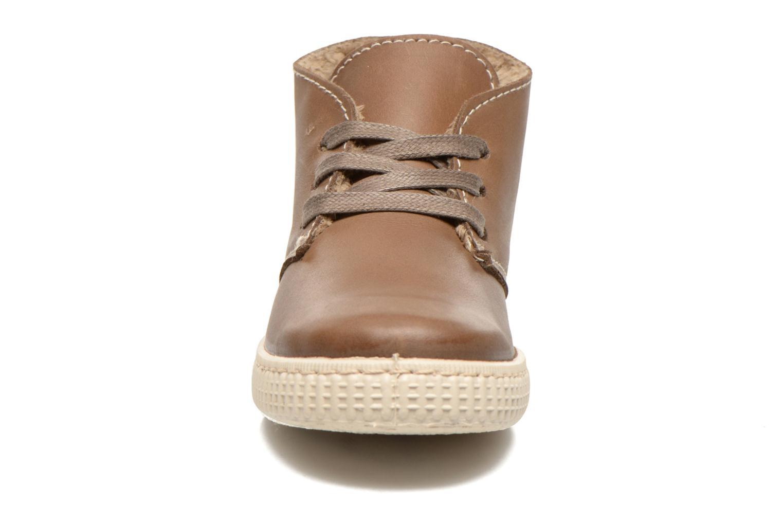 Schnürschuhe Victoria Safari Piel Tintada Pelo beige schuhe getragen