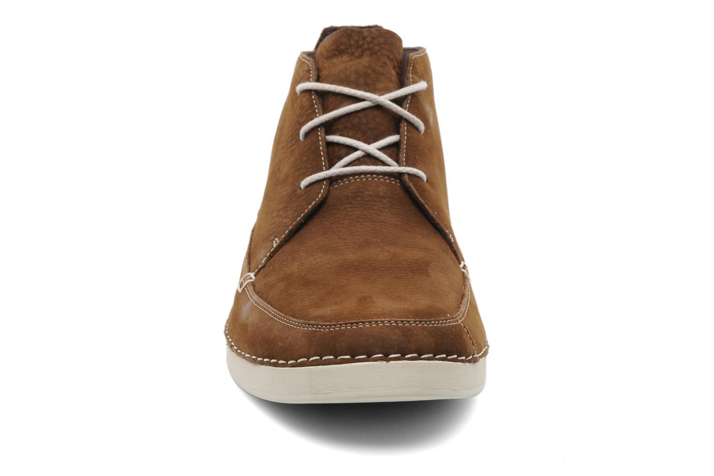 Chaussures à lacets Timberland EK20 BOAT MTC Marron vue portées chaussures