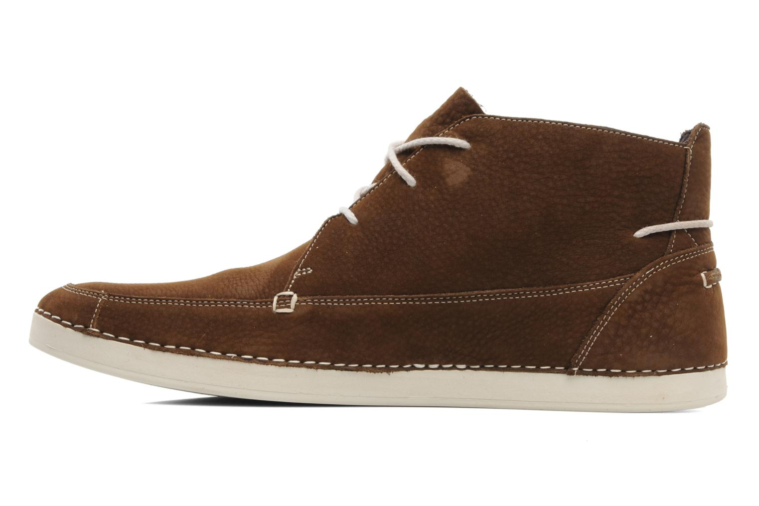 Lace-up shoes Timberland EK20 BOAT MTC Brown front view