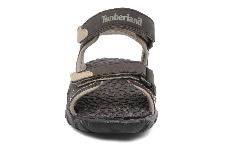 Sandales et nu-pieds Timberland Splashtown 2 Strap Sandal J Marron vue portées chaussures