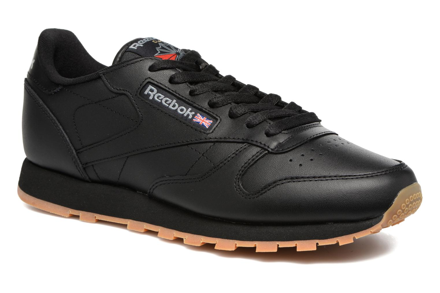 Trainers Reebok Classic Leather Black detailed view/ Pair view