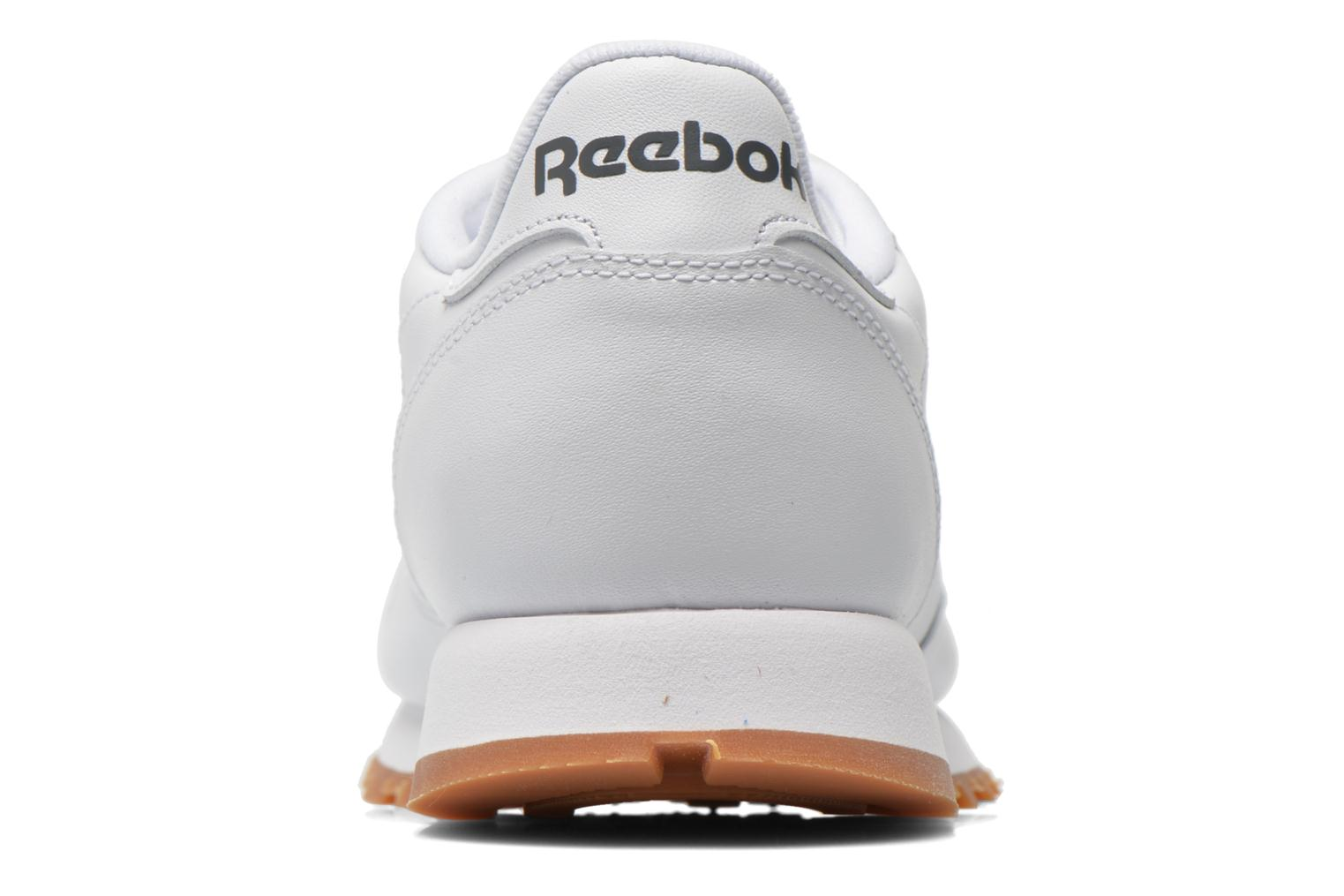 Baskets Reebok Classic Leather W Blanc vue droite