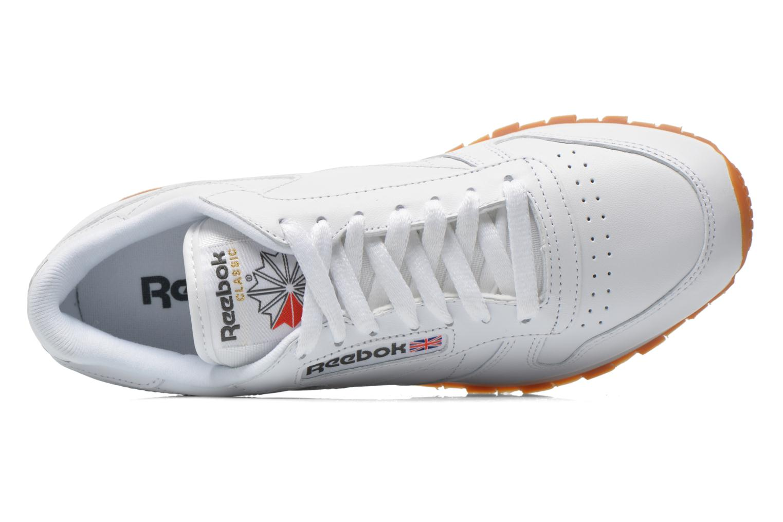 Sneaker Reebok Classic Leather W weiß ansicht von links
