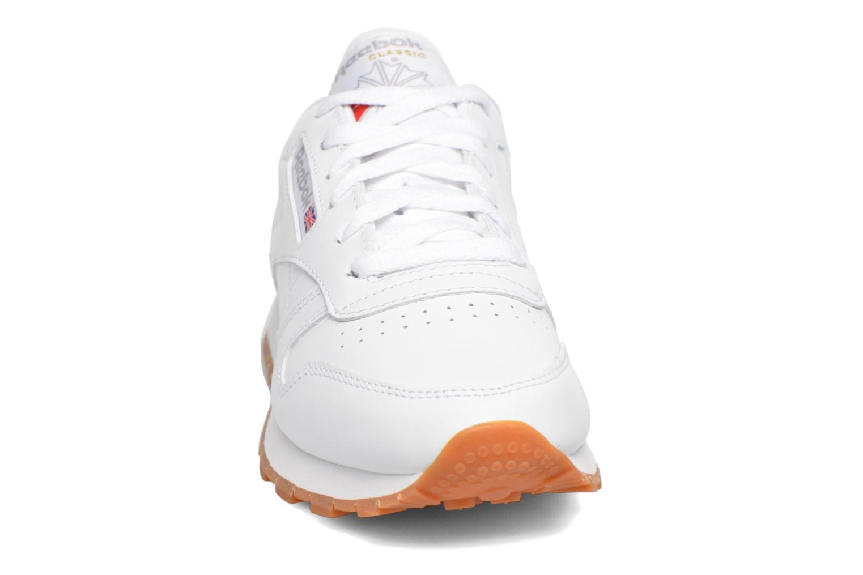 Deportivas Reebok Classic Leather W Blanco vista del modelo