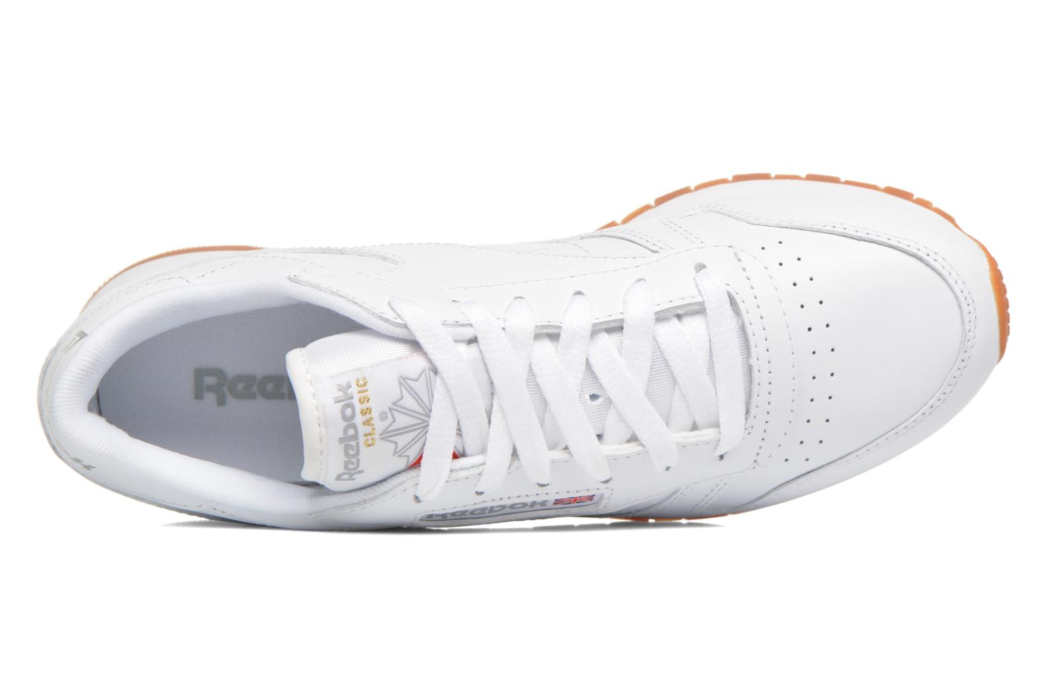 Trainers Reebok Classic Leather W White view from the left