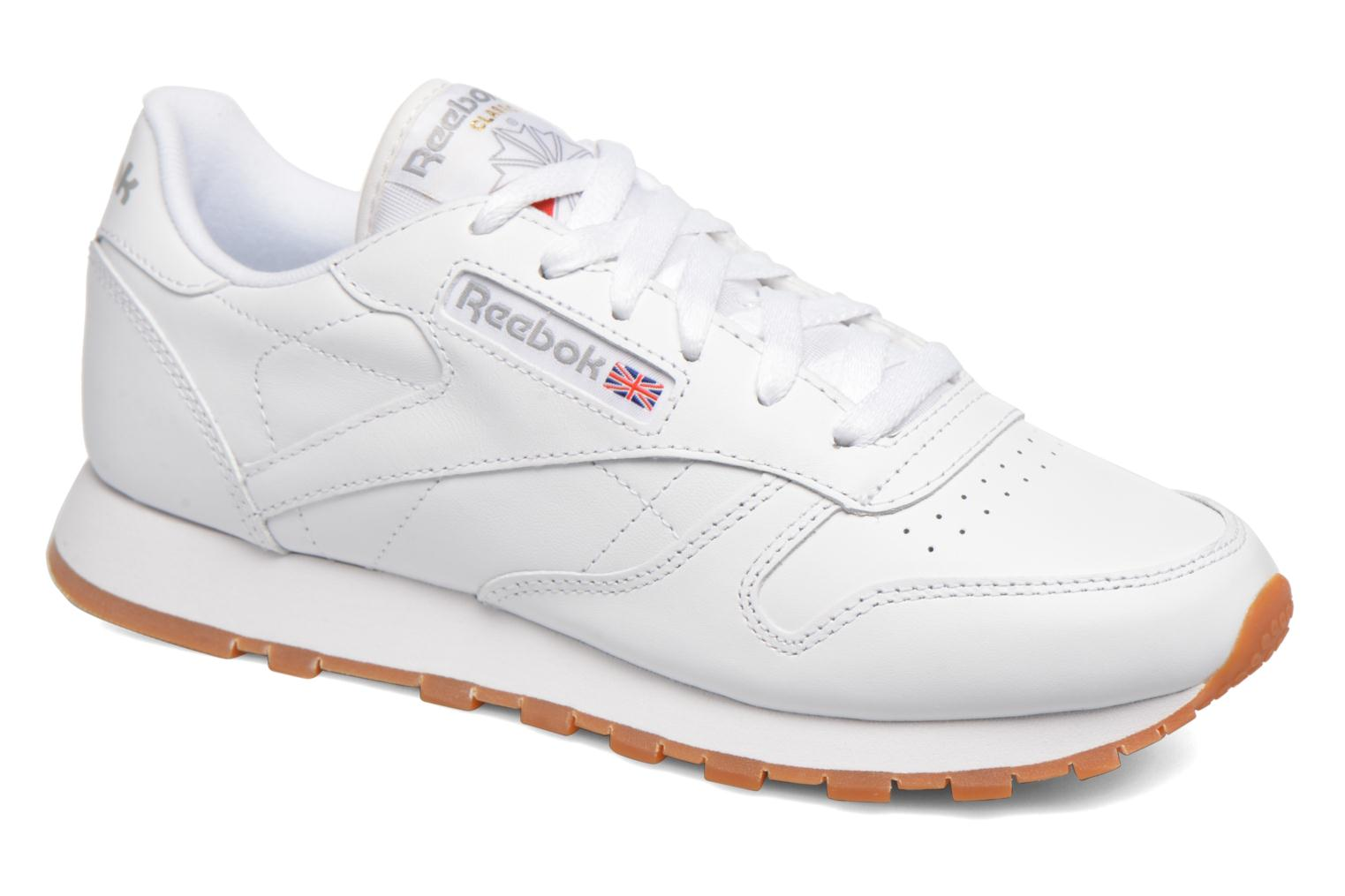 Baskets Reebok Classic Leather W Blanc vue détail/paire