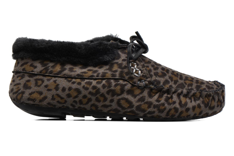 Hausschuhe Ruby Brown Mocassin Leopard grau ansicht von hinten