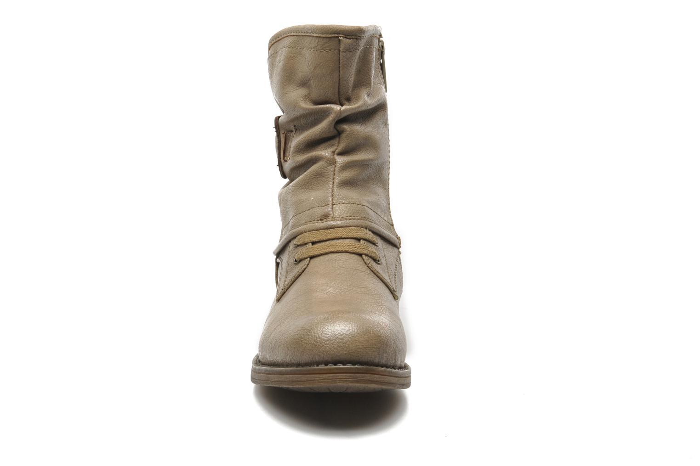 Bottines et boots Mustang shoes Masya Beige vue portées chaussures