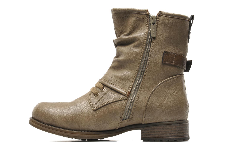 Bottines et boots Mustang shoes Masya Beige vue face