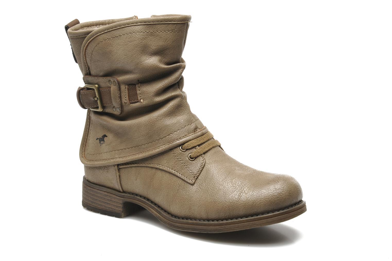 Bottines et boots Mustang shoes Masya Beige vue détail/paire