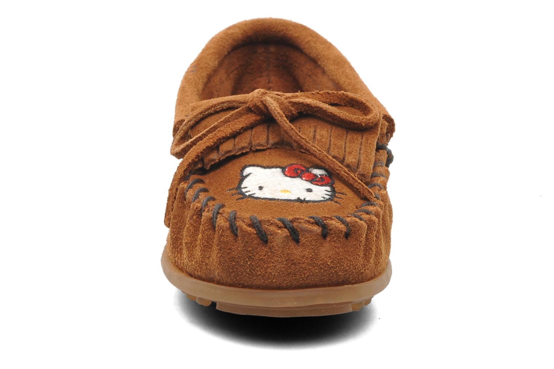 Loafers Minnetonka Hello Kitty Moc Brown model view
