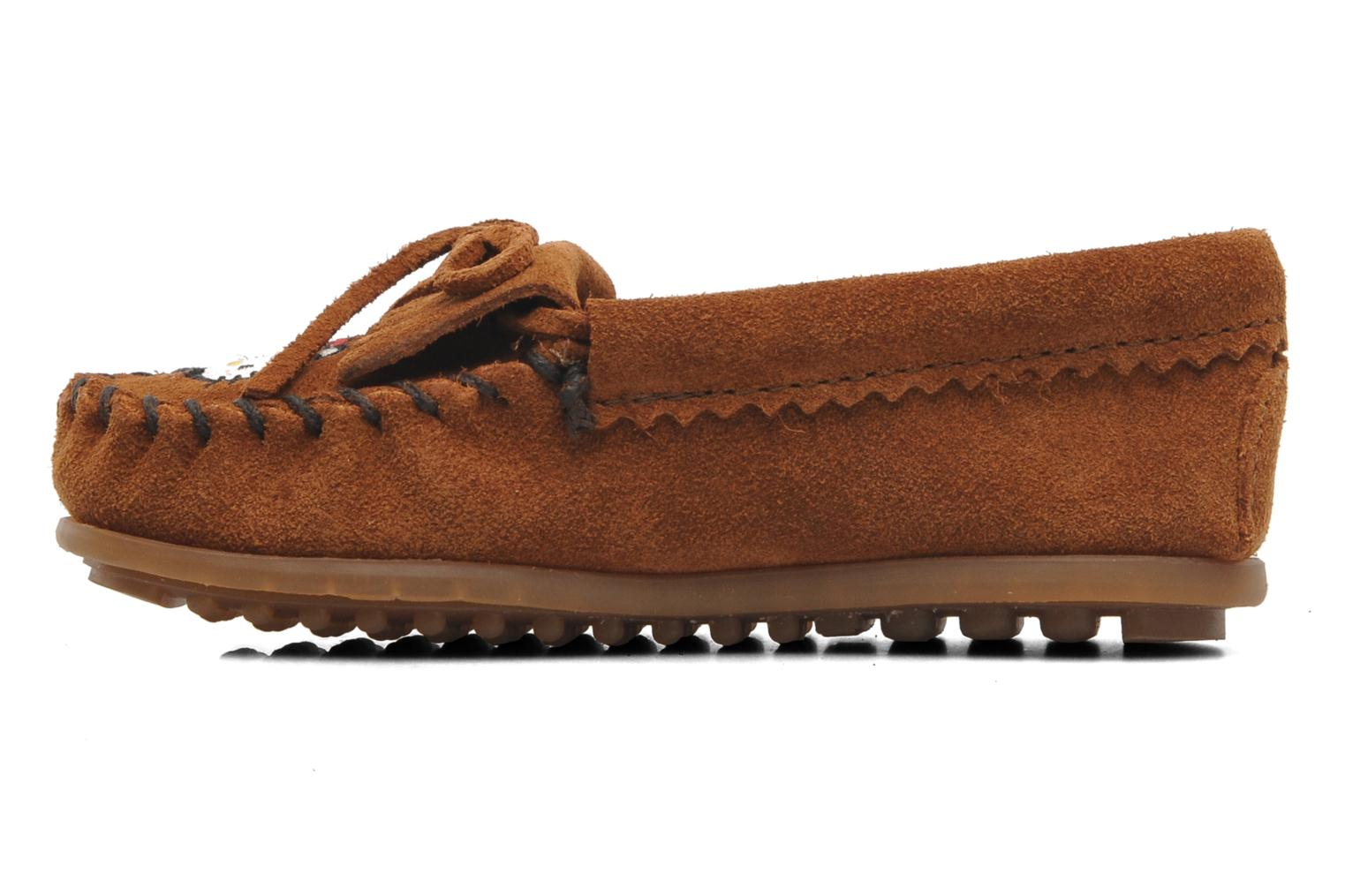 Loafers Minnetonka Hello Kitty Moc Brown front view