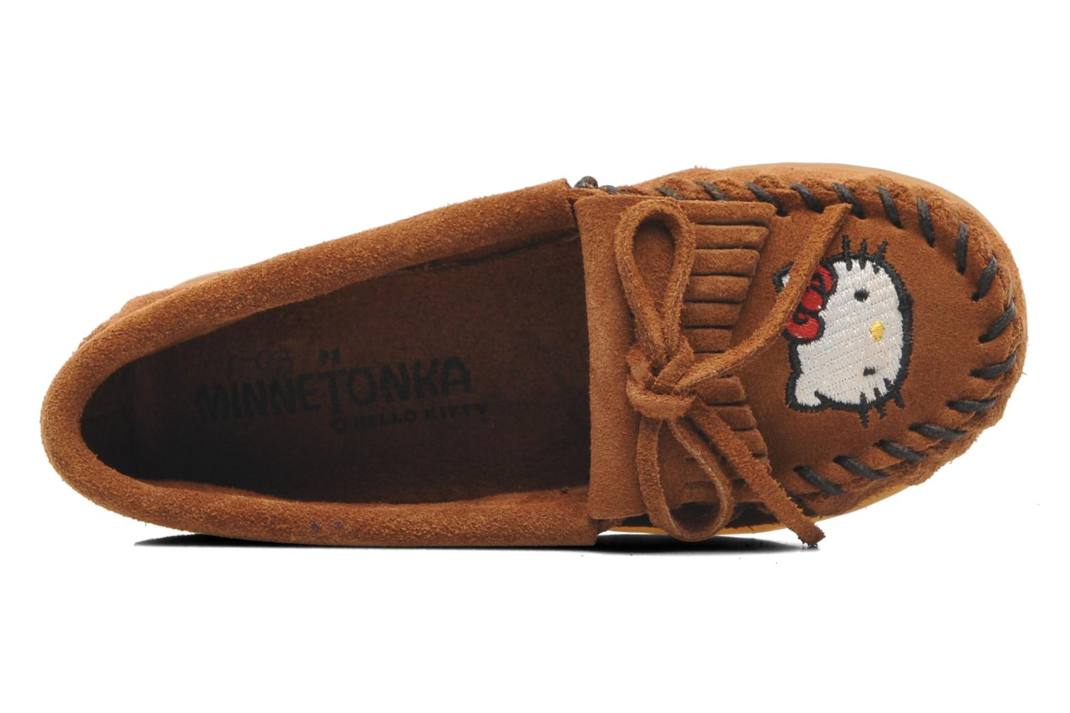 Loafers Minnetonka Hello Kitty Moc Brown view from the left