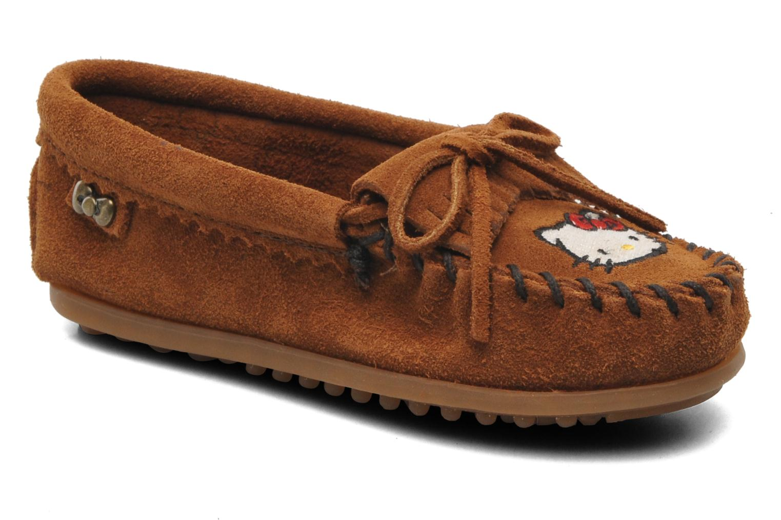 Mocassins Minnetonka Hello Kitty Moc Marron vue détail/paire