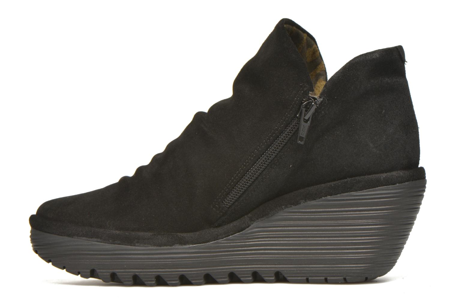 Ankle boots Fly London Yip Black front view