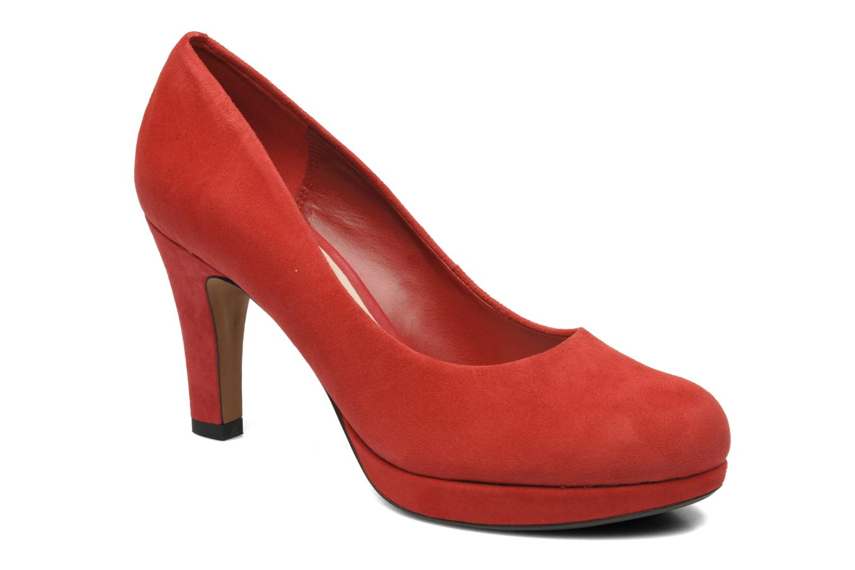 High heels Clarks Crisp Kendra Red detailed view/ Pair view