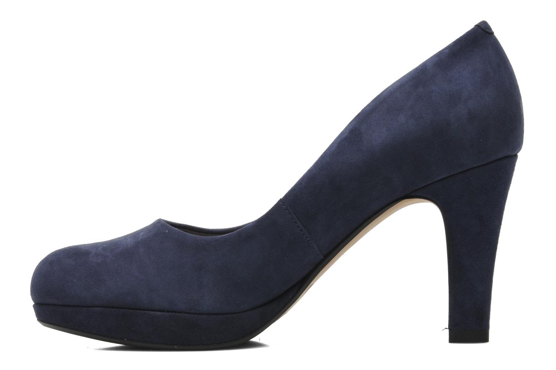 Zapatos de tacón Clarks Crisp Kendra Azul vista de frente